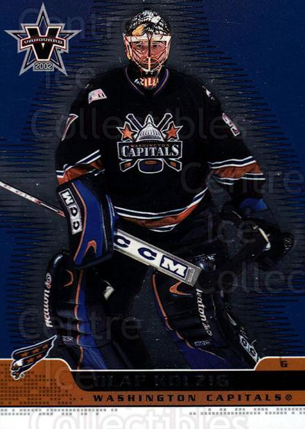 2001-02 Vanguard #100 Olaf Kolzig<br/>10 In Stock - $1.00 each - <a href=https://centericecollectibles.foxycart.com/cart?name=2001-02%20Vanguard%20%23100%20Olaf%20Kolzig...&quantity_max=10&price=$1.00&code=99965 class=foxycart> Buy it now! </a>